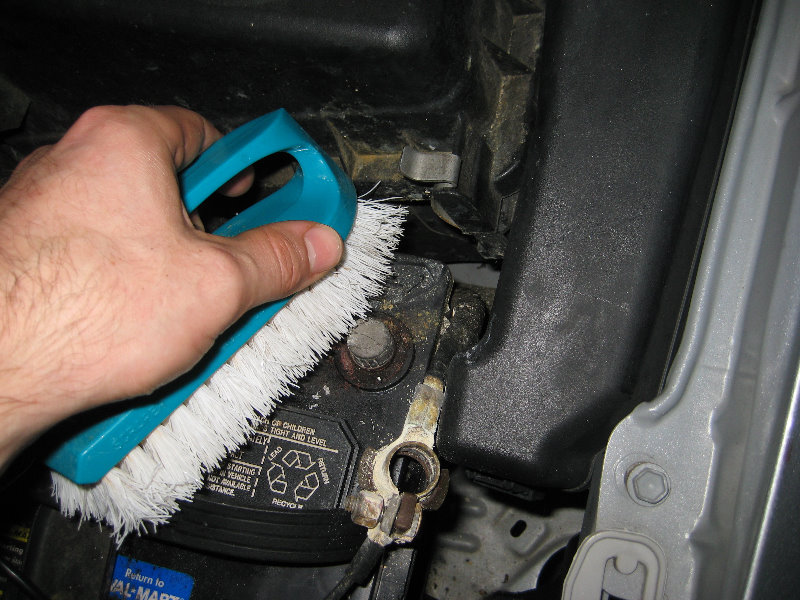 car battery corrosion brush cleaning