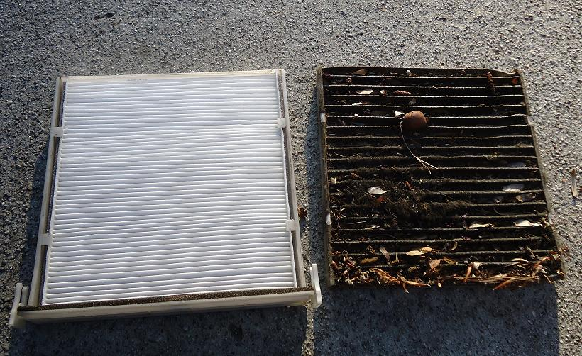 dirty vs new cabin air filter