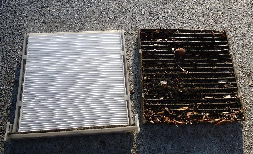 dirty vs new cabin air filter