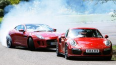 Porsche 911 Turbo S vs Jaguar F-Type