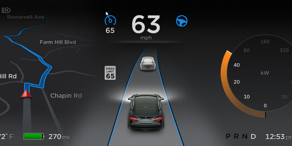 Tesla Autopilot Interface