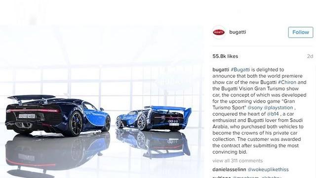 Bugatti Vision Gran Turismo and Bugatti Chiron