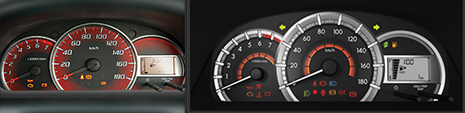 Avanza speedometer pre vs post face-lift