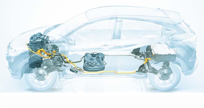 Honda Vezel Motor Layout