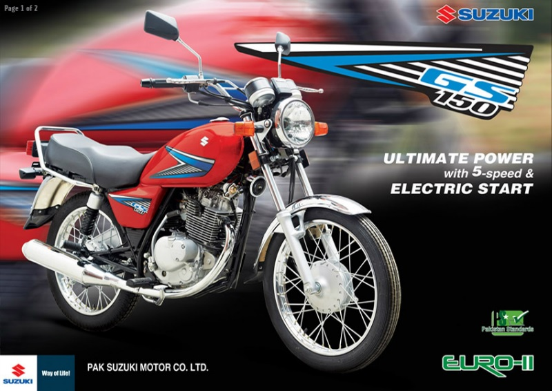 Pak Suzuki GS150 Brochure