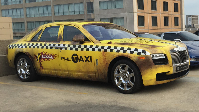 Crazy Taxi Themed Rolls Royce Ghost Looks Absolutely