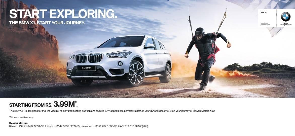 BMW X1 Announcement Advert.