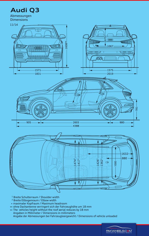 Audi Q3 Dimensions