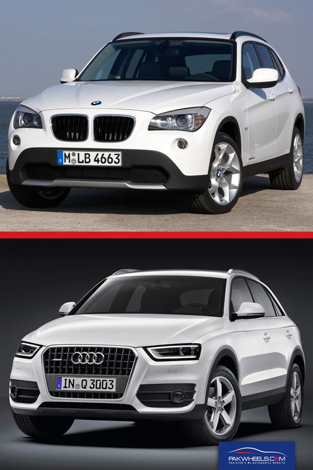BMW X1 and AUDI Front