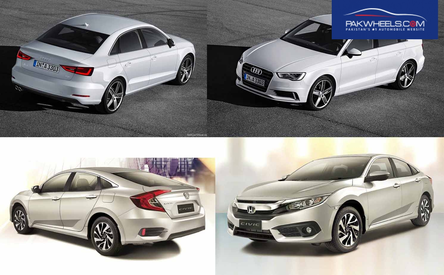 Civic and Audi A3 Exterior Compared