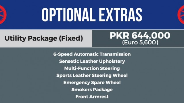 Optional Extras