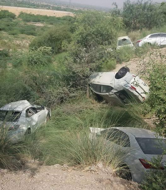 Several Toyota Corollas in a cargo accident