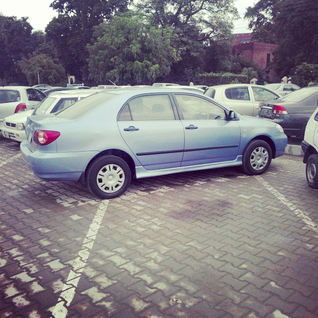 Car parked wrongly