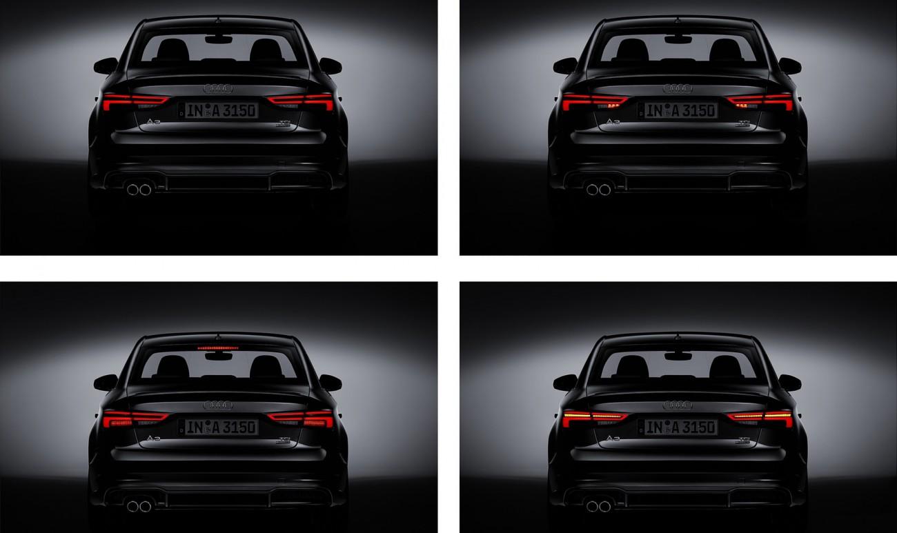 Audi A3 2017 rear lights