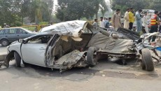 Road Accident in Lahore