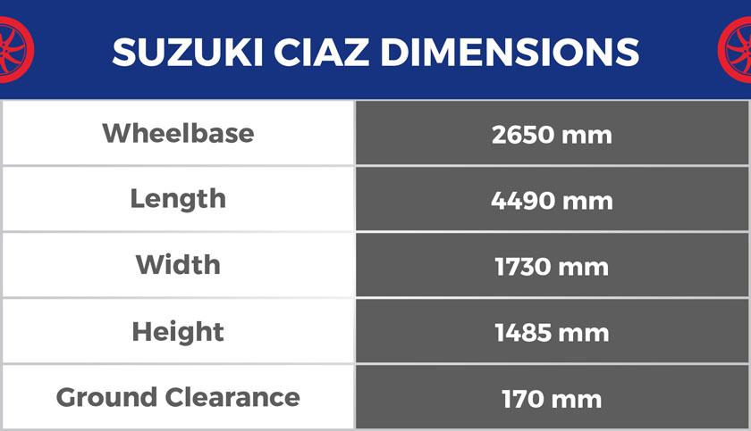 Suzuki-Ciaz-Dimensiona