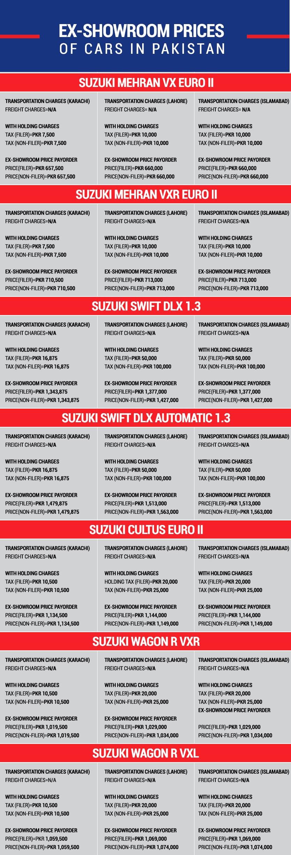 Suzuki Prices