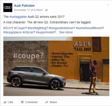 Audi Q2 to launch in Pakistan