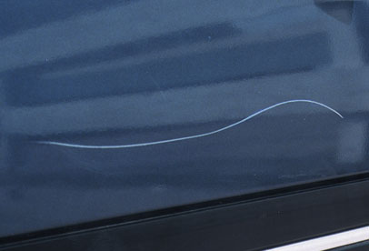 Car paint scratch