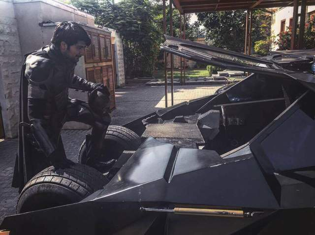 Shaheer with his Batmobile 2