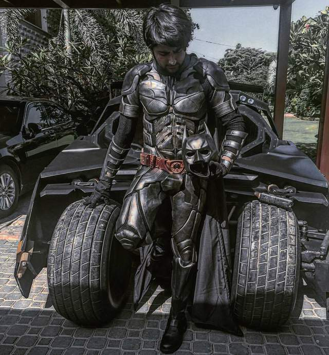 Shaheer with his Batmobile 3