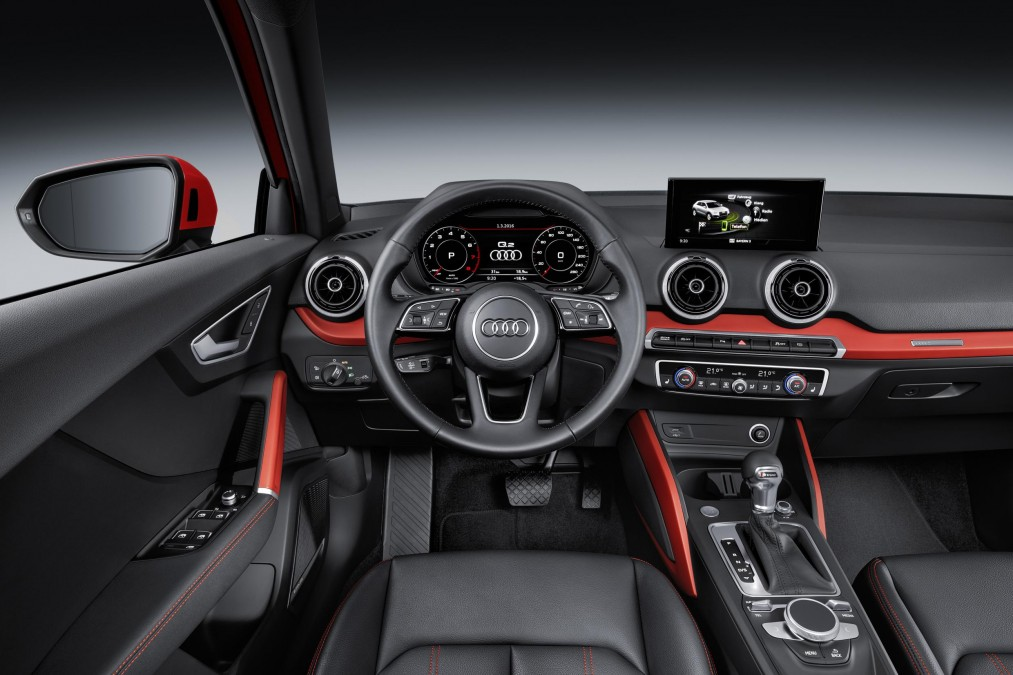 Q2's interior is a lookalike of the Audi A3 interior