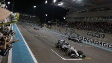 The chequered flag waves  as Rosberg Clinches world Championship title
