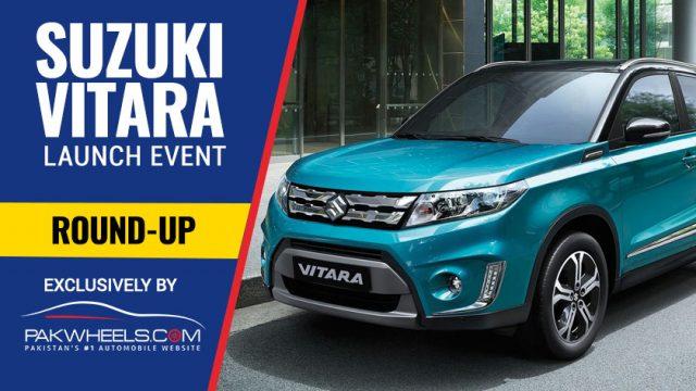 new car launches pakistanAll New Suzuki Vitara Launch in Pakistan  Live Blog by PakWheels