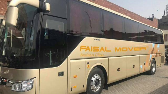 Faisal Movers' Launches Business Cl Bus Service in Pakistan