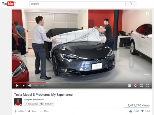 Issues with MKBHD's Tesla Model S