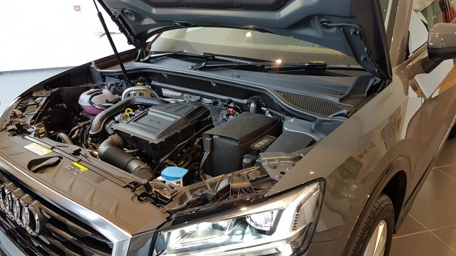 Audi Q2 turbo charged engine
