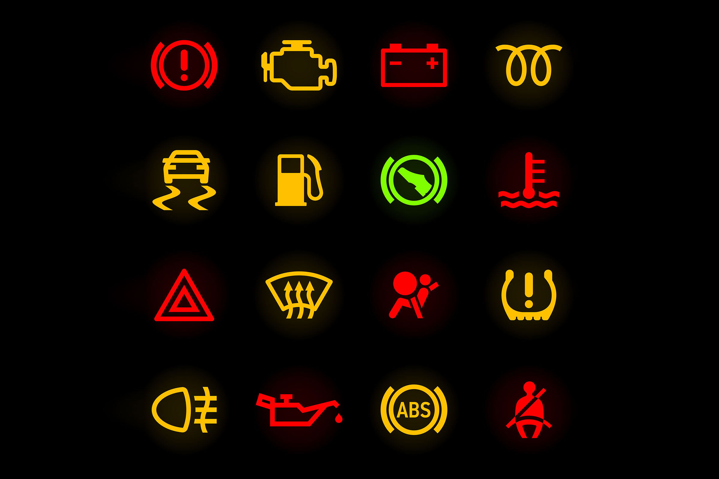 Dashboard Warning Lights Cropped