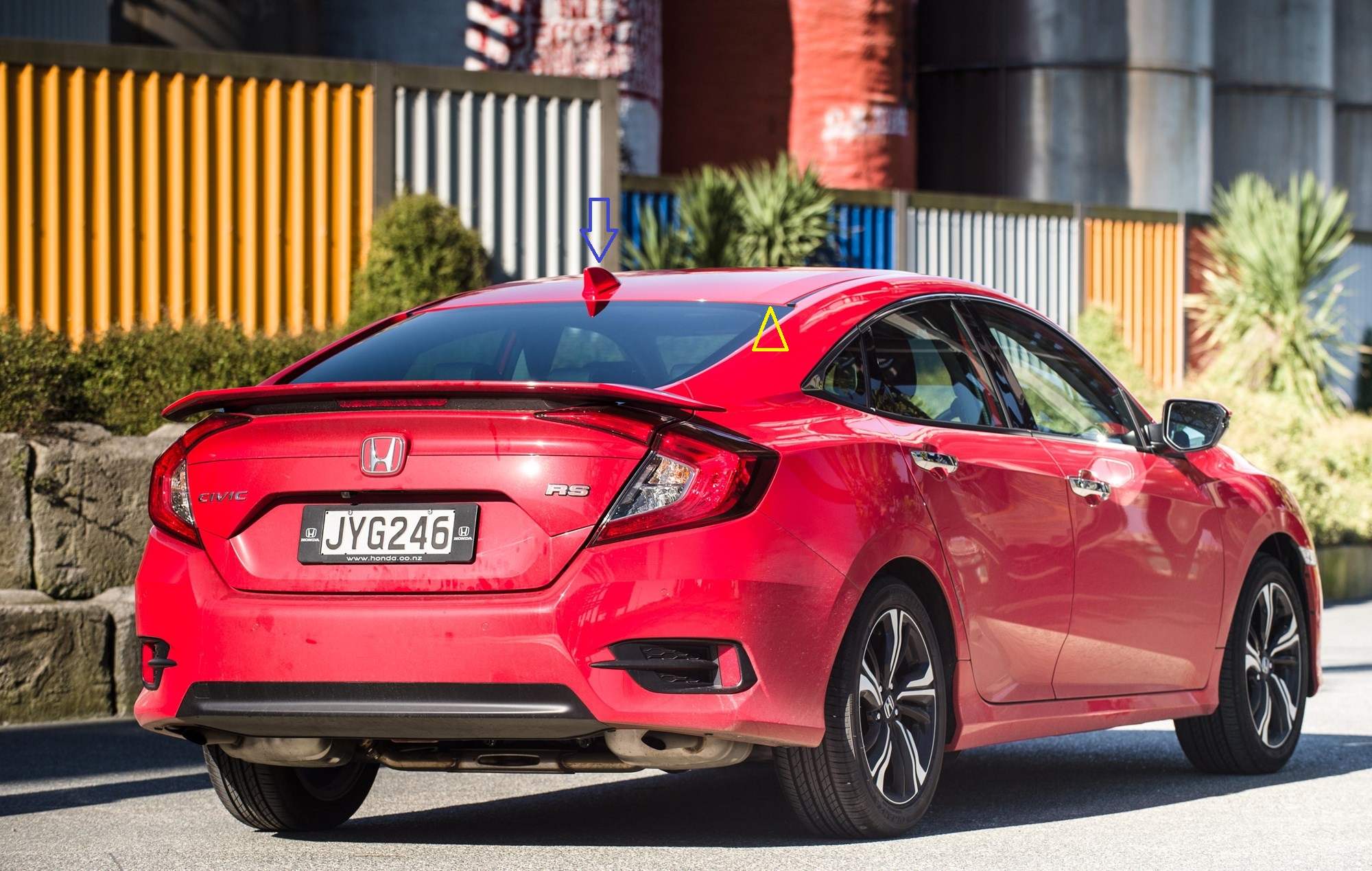 Honda Civic RS, photographed in Auckland for Driven. 2 August 2016 New Zealand Herald Photograph by Ted Baghurst.