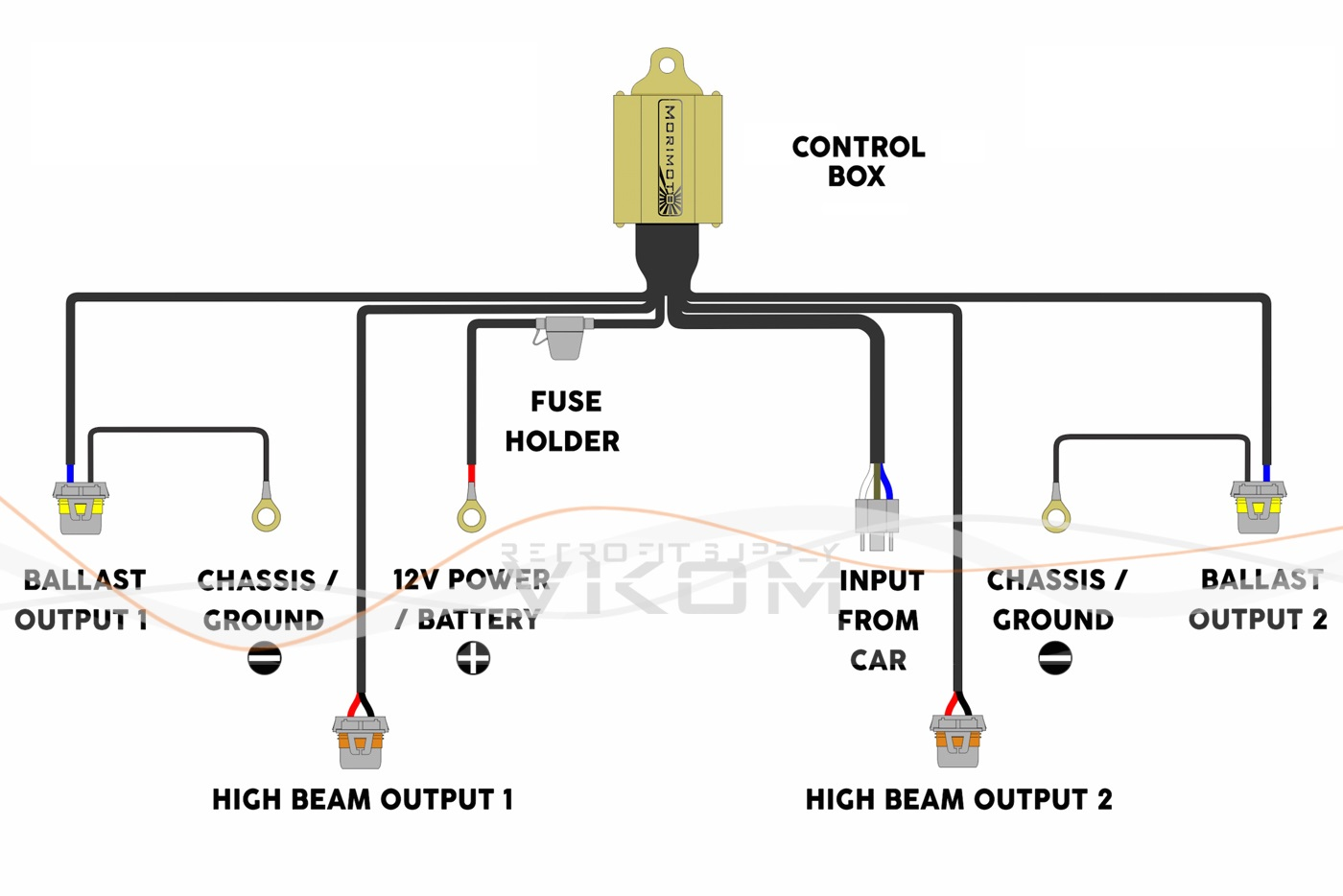 hid kit headlight relay wiring diagram