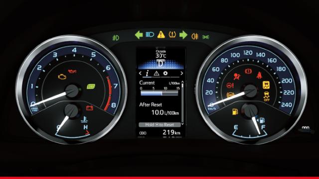 Toyota Corolla 2017 Optitron Meter