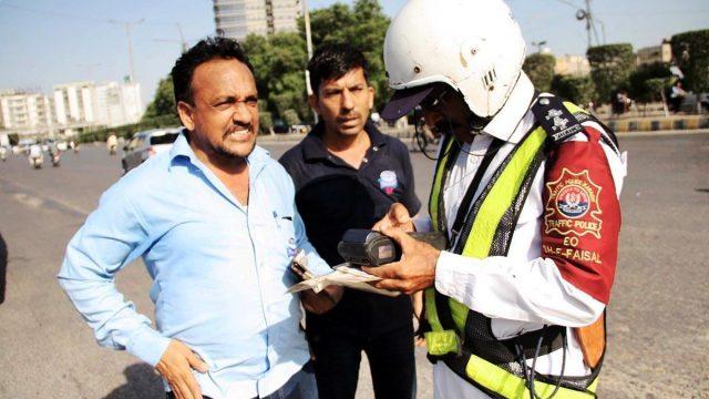 city traffic police karachi