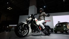 Honda self-balancing electric motorbike