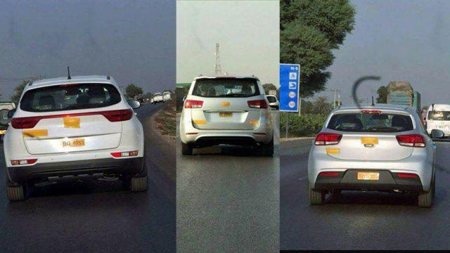 Three New Kia Cars Spotted In Hyderabad Sindh Pakwheels Blog