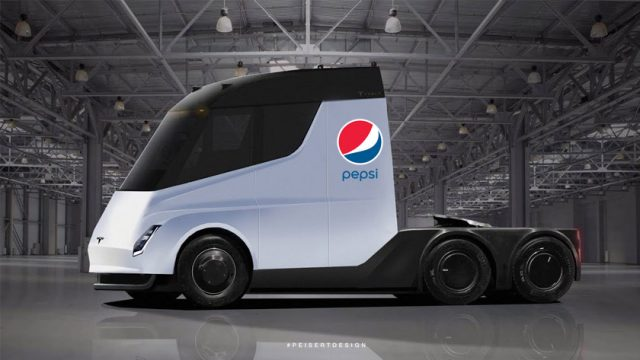 pepsi tesla electric truck