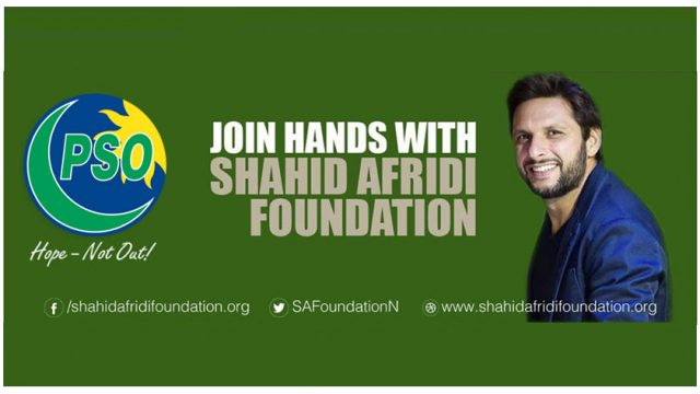 PSO And Shahid Afridi Foundation Team Up To Educate