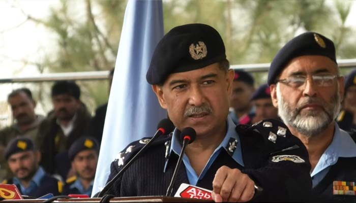 IGP Islamabad Dr Sultan Azam Temuri speaking about the latest digital facility in the state capital
