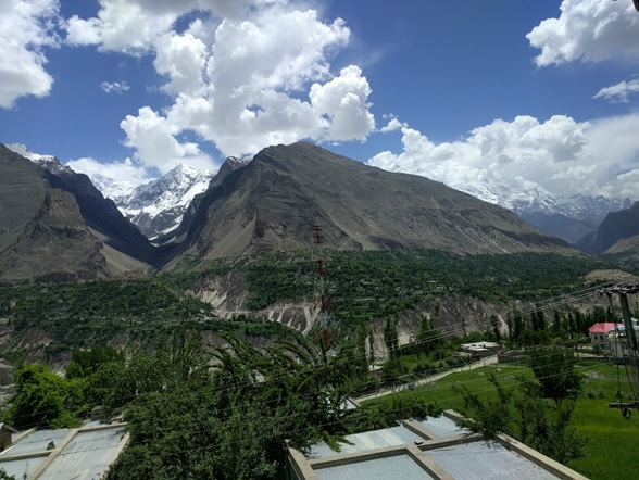 The view from our hotel room in Hunza