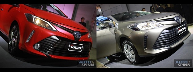 Toyota Vios 2018 front difference