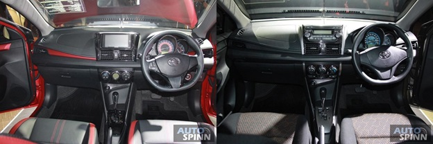 Toyota Vios 2018 interior difference