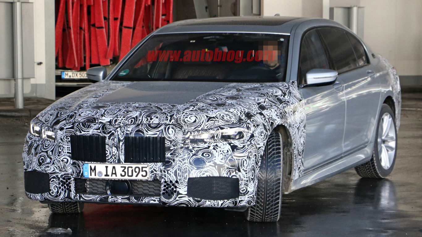 BMW 7 series spy shots 1