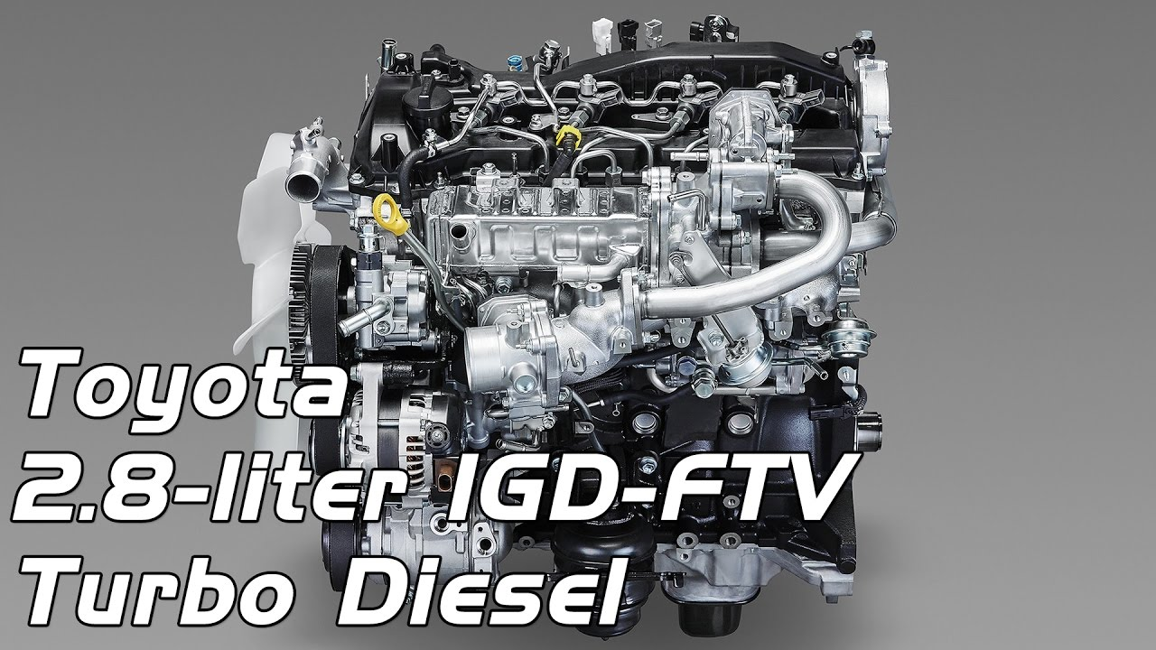 Toyota 2.8 liter 1GD FTV Turbo Diesel Engine