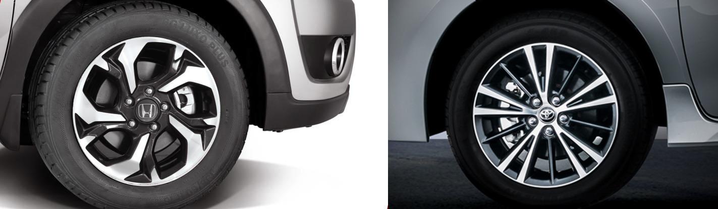 brv vs altis wheels