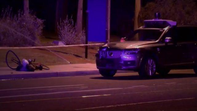 uber crash kills pedestrian