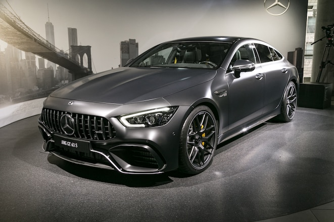 2019-Mercedes-AMG-GT-63-S-4-Door-Coupe-front-three-quarter