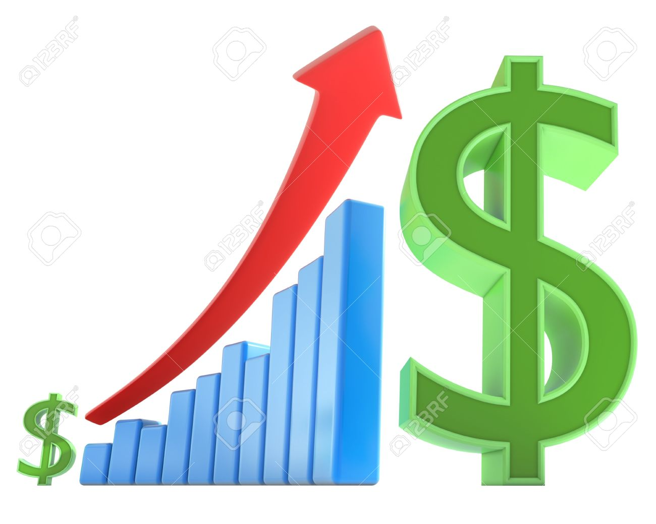 dollar goes up 1